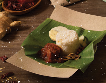 BKK Nasi lemak ayam Merah